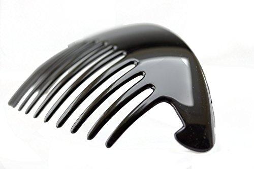 2Stk. XL Steckkamm in schwarz 14cm lang 7 cm breit - Made in Germany -WeLoveBeads