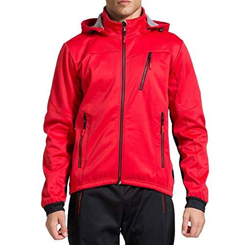 StepX - Radsport-Jacken für Herren in rot, Größe 4XL
