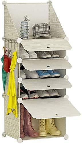 Bastidores de zapatos Mueble de zapatos de plástico de múltiples capas, gabinete de zapatos para el hogar simple y económico, soporte de zapatos simple a prueba de polvo multifuncional para su uso en