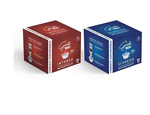 180 Capsule caffè Bialetti originali - 90 miscela classico - 90 miscela intenso + tazzina in regalo personalizzata Belotti distribution