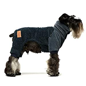 Fitwarm Fuzzy Thermal Turtleneck Dog Clothes Winter Outfits Pet Jumpsuits Cat Coats Velvet