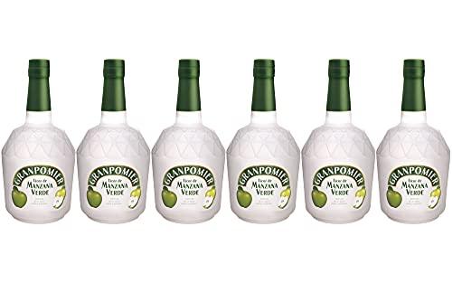 Granpomier - Licor de Manzana - 6 botellas de 700 ml - Total: 4200 ml