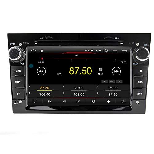 Sistema de navegación GPS estéreo con reproductor de DVD para coche Android 10 para Opel / Vauxhall Corsa (2006-2011) / Vectra (2005-2008) / Antara (2006-2011) / Meriva (2006-2008) / Astra (2004-2009