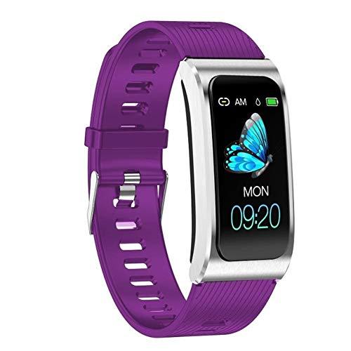 Daqin Smart Armband Farbdisplay Ip67 Wasserdicht Frau Uhr Blutdruckmessgerät Menstruationszyklus Aktivitätsmonitor Sportgürtel (Color : Purple)