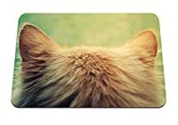 26cmx21cm マウスパッド (猫スピンウール) パターンカスタムの マウスパッド