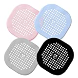 Shower Drain Hair Catcher Bathtub Stopper Home Drain Protectors Drain Cover with Sucker Water Trap Sink Cover for Bathroom Bathtub and Kitchen (Silicone)