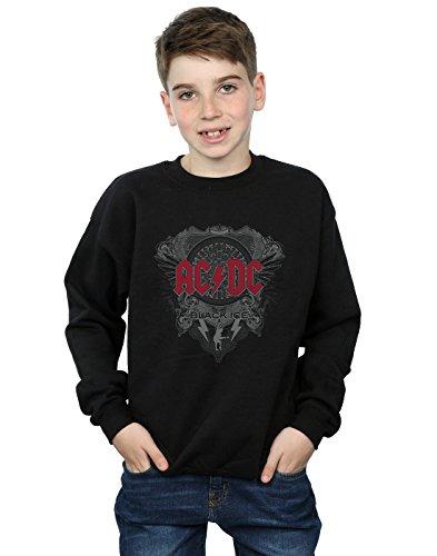 AC/DC niños Black Ice with Red Camisa De Entrenamiento 5-6 Years Negro