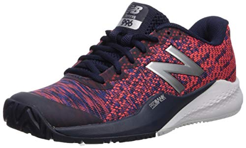 New Balance Women's 996 V3 Hard Court Tennis Shoe, Pigment/Multi, 11 N US