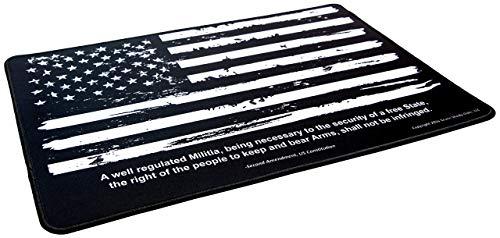 "Ultimate Rifle Build Gun Cleaning Mat - Medium (17x11"") Non-Slip Pad with Distressed US Flag Design for Rifle, Pistol & Shotgun - Gun Cleaning Kit Supplies"