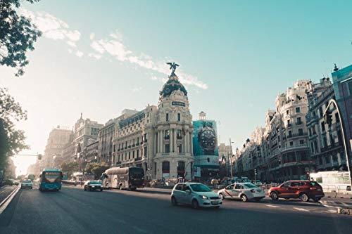 HEE WAG Fotos De Arquitectura De Madrid En España Pintura por Números DIY Único