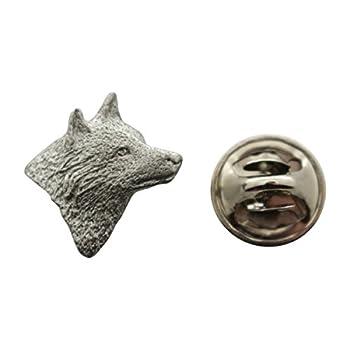 Wolf Head Mini Pin ~ Antiqued Pewter ~ Miniature Lapel Pin ~ Sarah s Treats & Treasures
