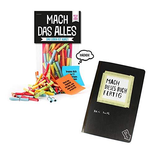 Monsterzeug 2-teiliges Geschenkset mit Mach das Alles Losen und Mach Dieses Buch fertig Buch, 50 Papierlose mit Challenges