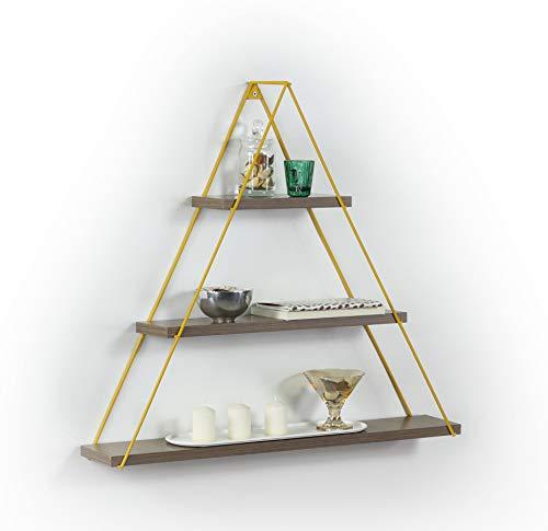 Vivense Moset drijvende planken - 3 lagen driehoek muur gemonteerd houten plank