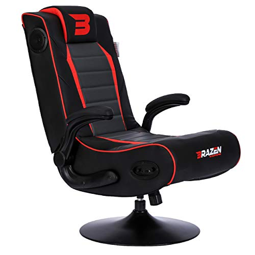 BraZen Serpent 2.1 Bluetooth Surround Sound Gaming Chair - Red
