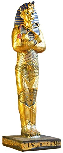 Equipo de Vida Estatuas Artículos Decorativos Estatuillas Esculturas Figuras Faraón de Egipto Figuras Decorativas Diosa egipcia Estatua Artesanía Navidad Decoración del hogar Pirámide Resina Artesa