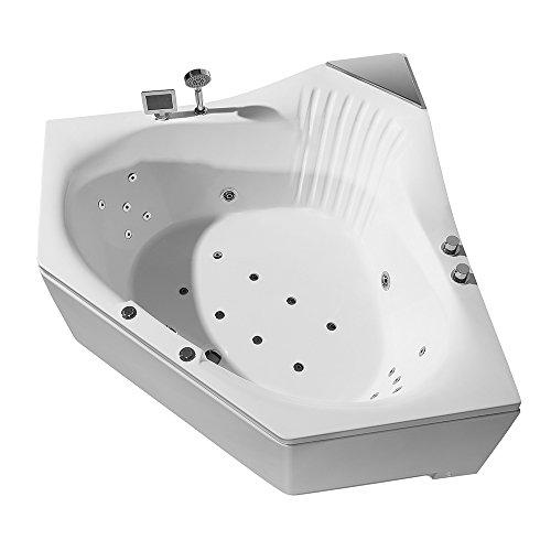 ARIEL Platinum PW1685959CW1 Whirlpool Bathtub with Jets, 59