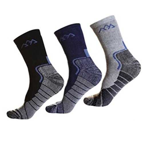Noga Coolmax hombres 3-pack al aire libre alpinismo calcetines deportivos cálidos calcetines absorber humedad permeabilidad escalada calcetines gruesos calcetines calientes