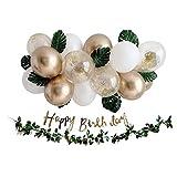 Lumierechat 誕生日 バースデー 飾り 飾り付け 装飾 バルーン 風船 ガーランド ナチュラル グリーン セット a-b1065