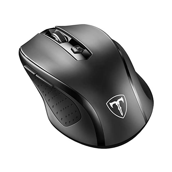 VicTsing MM057 2.4G Wireless Portable Mobile Mouse Optical Mice with USB Receiver,...