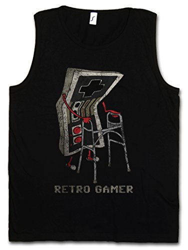 Urban Backwoods Retro Gamer Heren Tank Top Training Gym Shirt