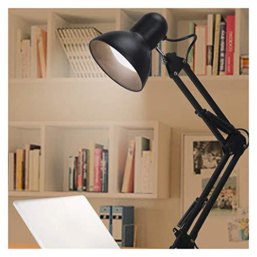 Lámpara Escritorio Luces Flexibles Lámpara Mesa Mesa Suministros Suministros Swing Mesas Mesas Mesas Iluminación Fijado Estudio LED Escritorio Negro Lámpara de Mesa