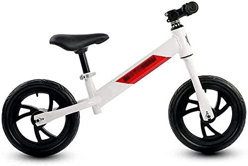 DRAGDS Bicicleta de Equilibrio, Bicicleta de Equilibrio para Niños Bike Bike Bike Bicicleta de Equilibrio para 2-6 Años de Edad Bicicleta de Entrenamiento Ligero con Mar Ajustable sin Pedal de Bicicl