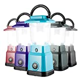 Enbrighten LED Mini Camping Lantern, Battery Powered, 200 Lumens, 40 Hour Runtime, 3 Light Levels, Ideal for Hiking, Outdoors, Emergency, Snow, Hurricane and Storm, Teal, 49561
