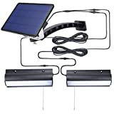Indoor Solar Lights for Shed with Pull Cord,40LED 2 in 1 Solar Powered Corridor Wall Lights Auto Dusk to Dawn IP65 Waterproof White Light Shop Barn Light