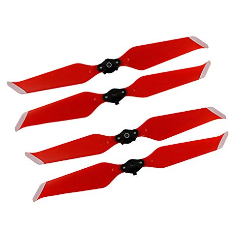 kingko® 2 Paires pour Drone DJI Mavic 2 Pro / Zoom Pliable Propeller 8743F à libération Rapide à Faible Bruit Design à dégagement Rapide Classique (Rouge)