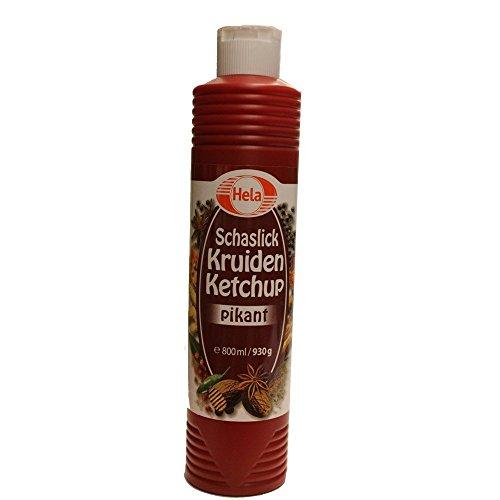 Hela Schaslick Kruiden Ketchup Pikant 800ml Flasche (Schaschlik Gewürz Ketchup)