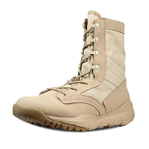 LUDEY Herren Atmungsaktive Kampfstiefel Commando Outdoor Desert Tactical Boots Militärstiefel Armee Patrol Stiefel Sicherheit Polizei Schuhe Hohe qualität Leder A-CQB 43 EU