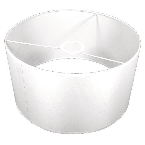 Rayher 23085102 Pantalla de lámpara, blanca, redonda, diametro 30 cm, alto 16 cm, 100% poliéster, Para lámparas de pie y techo, Apta para decorar