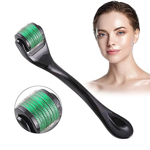 Derma Roller, Microneedle Derma Roller, Rodillo Agujas, 540 Rodillo de Micro Agujas 0.5mm de alta calidad para rostro y cuerpo - para aplicar sobre arrugas, espinillas, poros dilatados