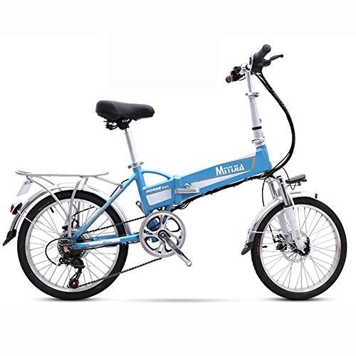 Hxl Elektrische fiets voor volwassenen, dames, heren, 240 W, inklapbaar, met afneembare 48 V, lithium-ion-accu, draagbaar, ultralicht met schijfremmen
