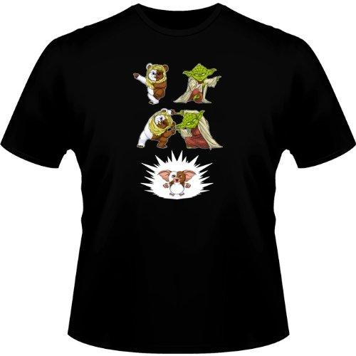 T-Shirt Geek - Parodie Star Wars - Fusion !! YAHA !! - T-shirt Homme Noir - Haute Qualité (463), Large