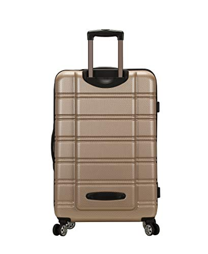Rockland Melbourne Hardside Expandable Spinner Wheel Luggage, Champagne, 3-Piece Set (20/24/28)
