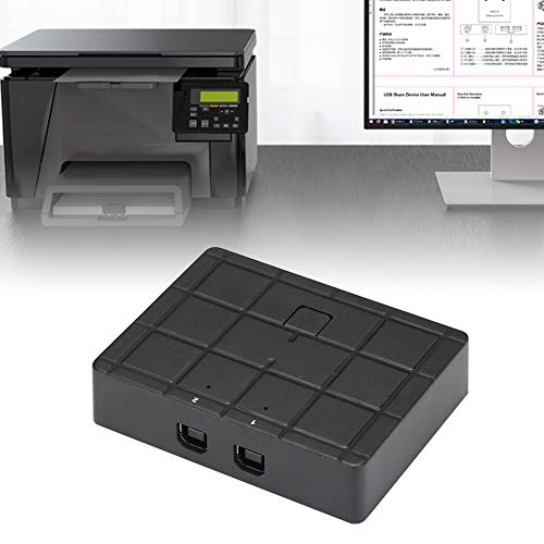 USB Sharing Switcher, Compatible Switcher Adapter Box Power Supply with Abs 1980 X 1080 for Pc Scanner Printer