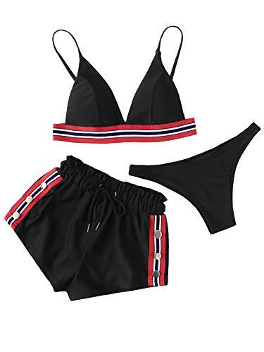 DIDK Mujer Traje Baño Set Bikini diseño
