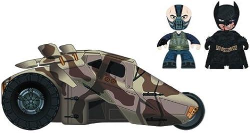 Mezco Toys Batman  The Dark Knight Rises  Bane and Battle Damaged Batman with Tumbler, 2-Pack by Mezco