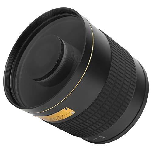 DAUERHAFT Lente de Espejo Ultra teleobjetivo, 500 mm F6.3, Lente de Zoom telefoto, Lente de Enfoque Manual, Apto para cámara SLR Canon EF Mount(Negro)