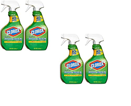 Clean-Up with Bleach, 32 fl oz Trigger Spray Bottle (Pack of 4)