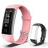 Showyoo Fitness Tracker con Cardiofrequenzimetro Impermeabile IP68, Tracker attività Orologio...