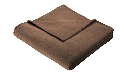 Biederlack Wohn- & Kuscheldecke, 60 prozent Baumwolle, Veloursband-Einfassung, 150 x 200 cm, Schoko, Orion Cotton, 240073