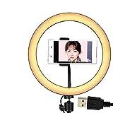 Cloudlesscc Anillo de luz Luz de Anillo de Selfie LED Lámpara de Anillo LED Dimmable Lámpara de Video Videocámara Teléfono Luz de Luz de Luz de Luz de Light Light- Pulgada Luz de Selfie