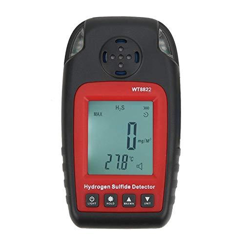 Detector de H2S, Detector de Gas portátil, medición de Picos absolutos Altos/Bajos, para Detector de Gas de luz de Monitor