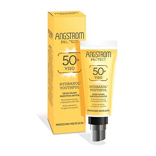 Angstrom Protect Crema Solare Anti Età, Protezione Solare 50+ con Prevenzione Antirughe e Antimacchie, Indicata per Pelli Sensibili, 40 ml