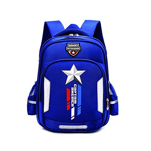 Kindergarten Preschool Backpack Child Book Bag School Bags Elementary Bookbags blue Waterproof Lightweight backpack with reflective strips for kids 3-6Years