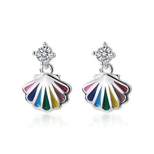 Empty 925 zilver multicolor oorbellen voor dames meisjes kinderen modesieraad