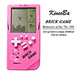 KincoBa Brick Handheld Game Machine Retro Game with 23 Classic Brick Games 3.5 inch Screen Portable Game Controller Good Toys for Kids(Pink)
