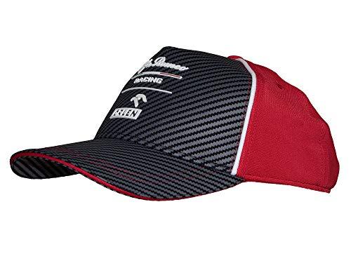 Alfa Romeo Racing Herren Team BB Cap Baseballkappe, Silber/Rot, Einheitsgröße